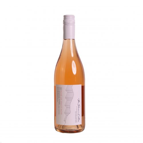 A bottle of The Storm Cellar 2018 Rosé of Pinot Noir. Click for more details on this rosé wine.