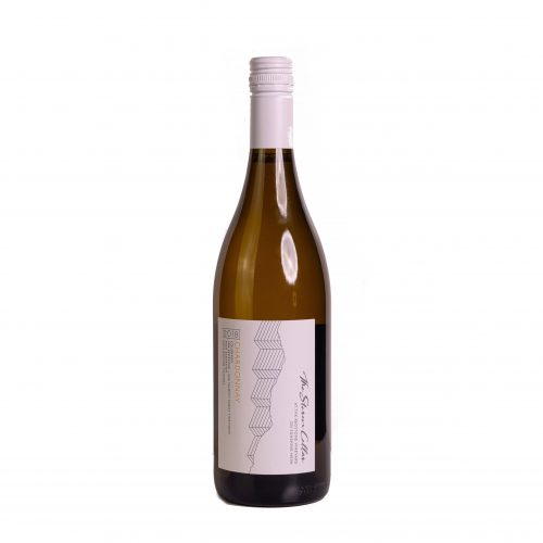 A bottle of The Storm Cellar 2018 Chardonnay. Click for more details on this white wine.